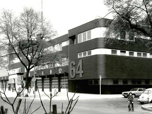 Berufsfeuerwache in der Wiener Straße in Kreuzberg